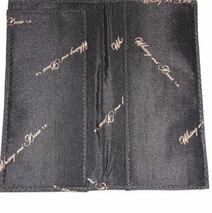 Whiting and Davis black checkbook cover - NWOT
